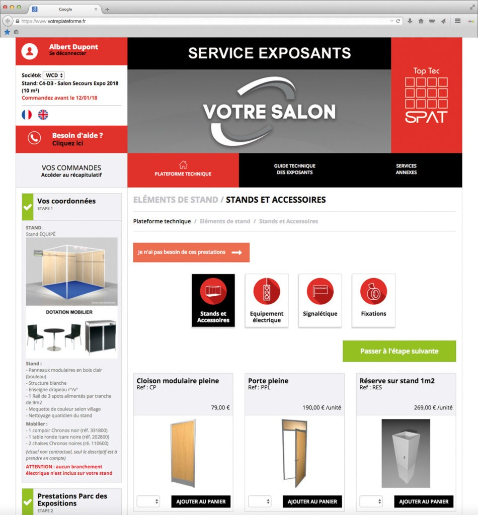 TOP TEC : La plateforme de gestion des exposants by SPAT
