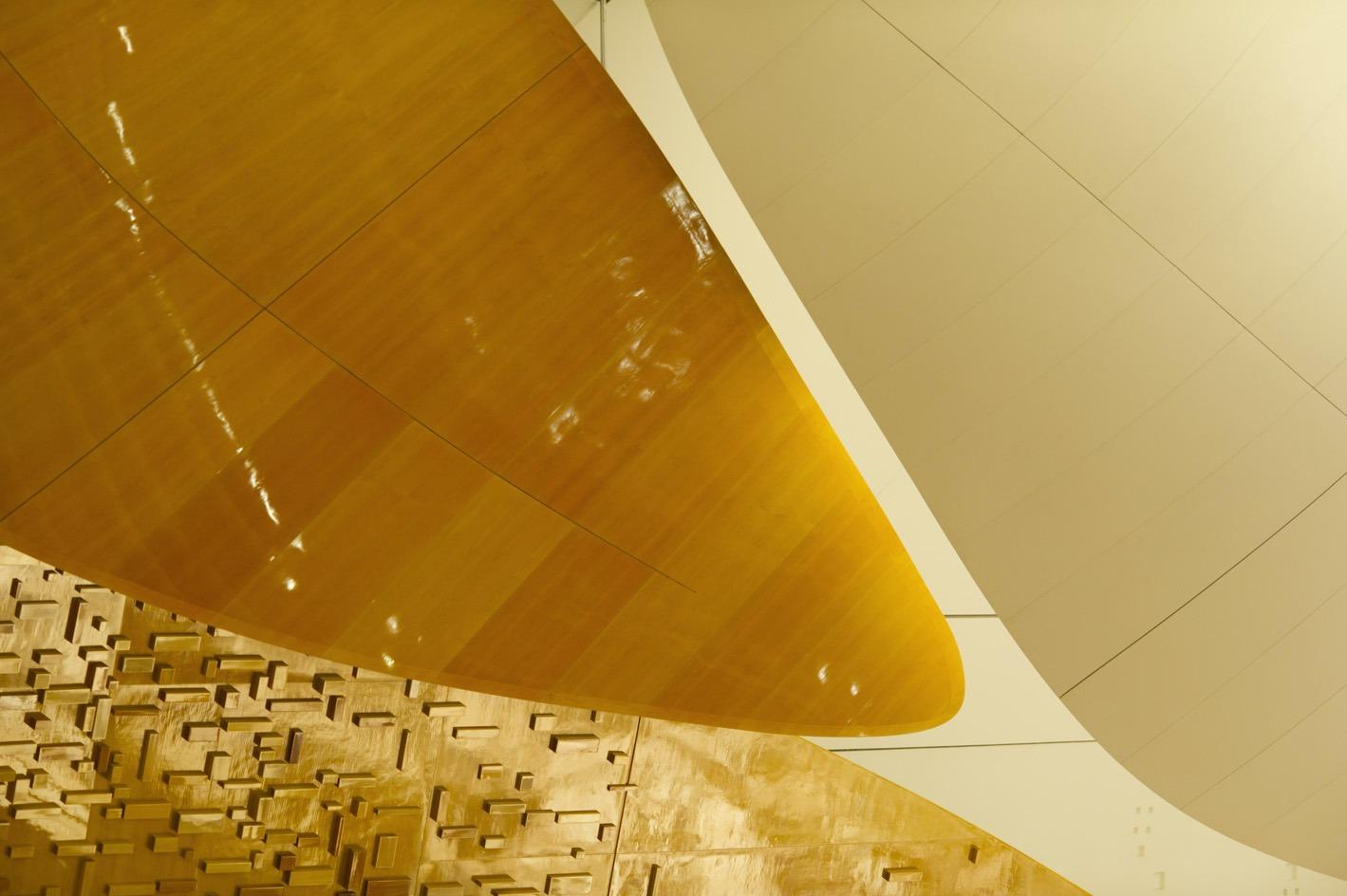 Détails architecturaux grande salle Pierre Boulez