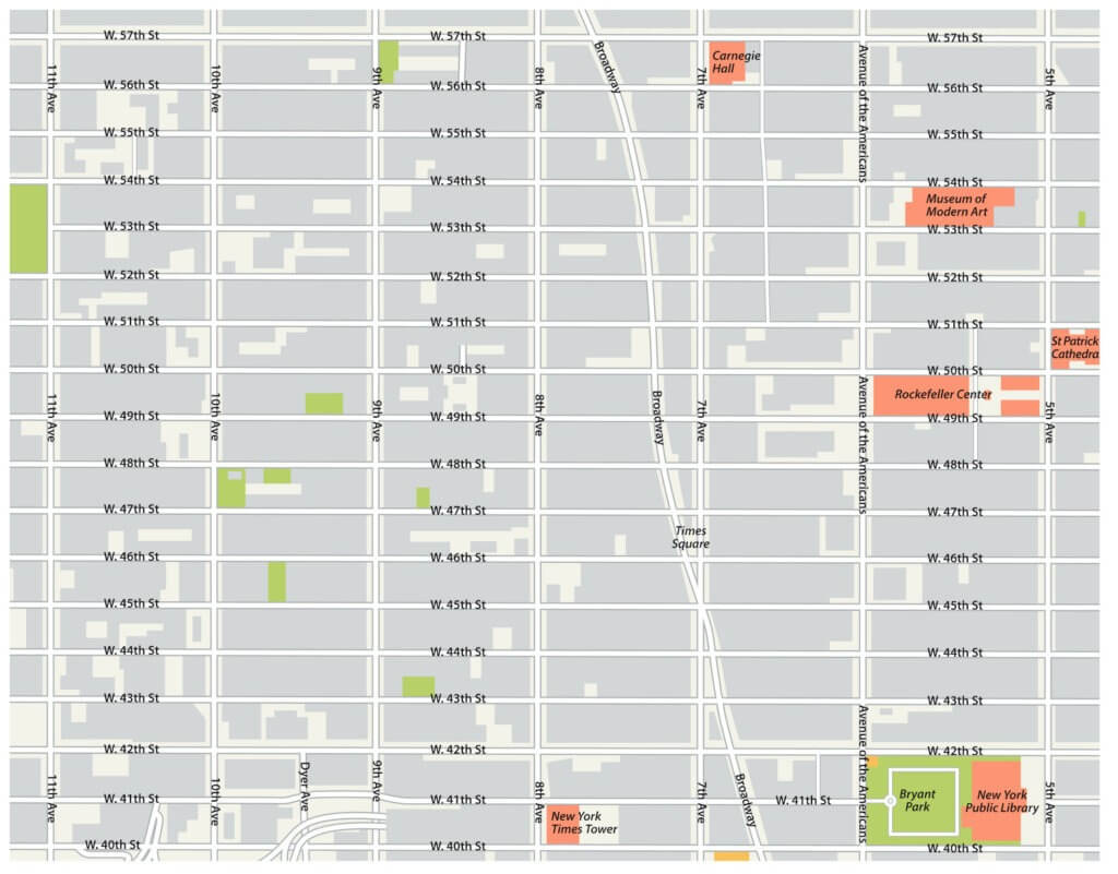 Circulatique plan de New York