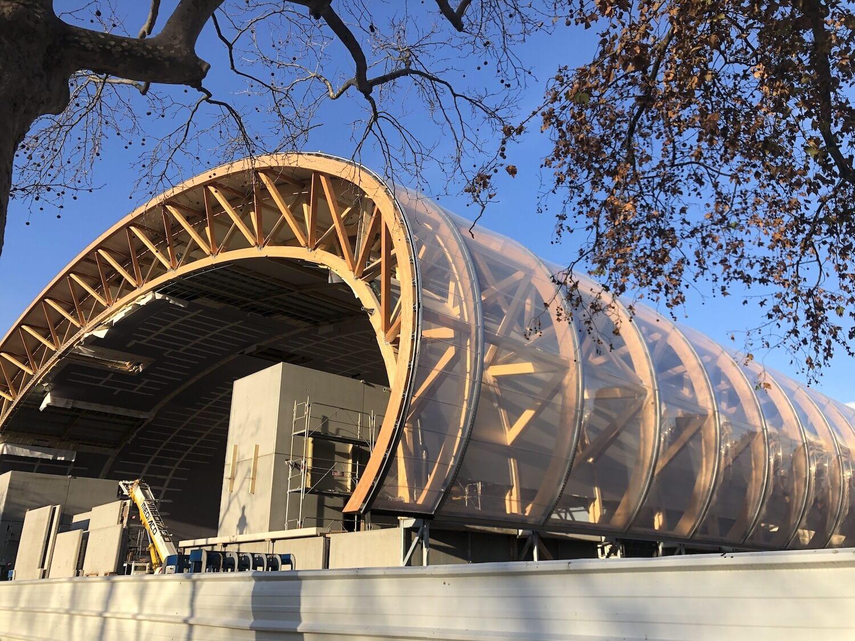 Structure bois grand palais éphémère