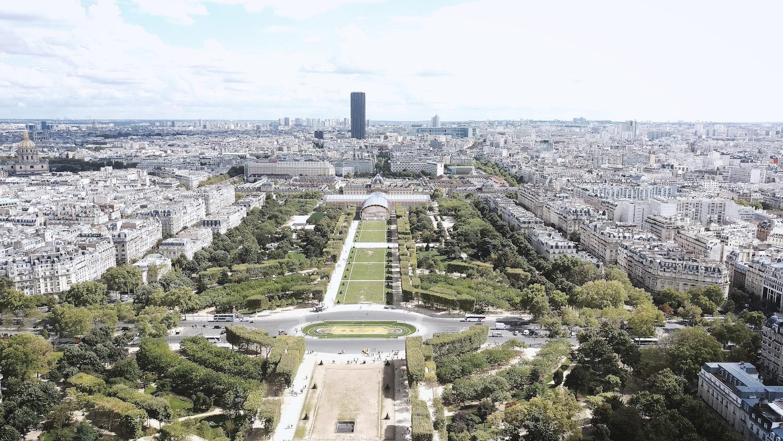 Vue aérienne Grand Palais éphémère